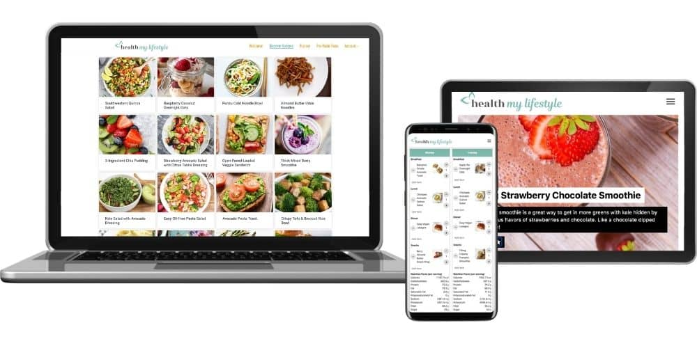 Health My Lifestyle Meal Planner on multiple devices