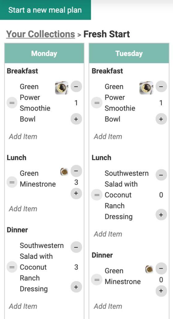 meal planner demo